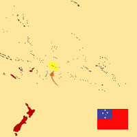 Globalization guide - Map for localization of the country - Western Samoa